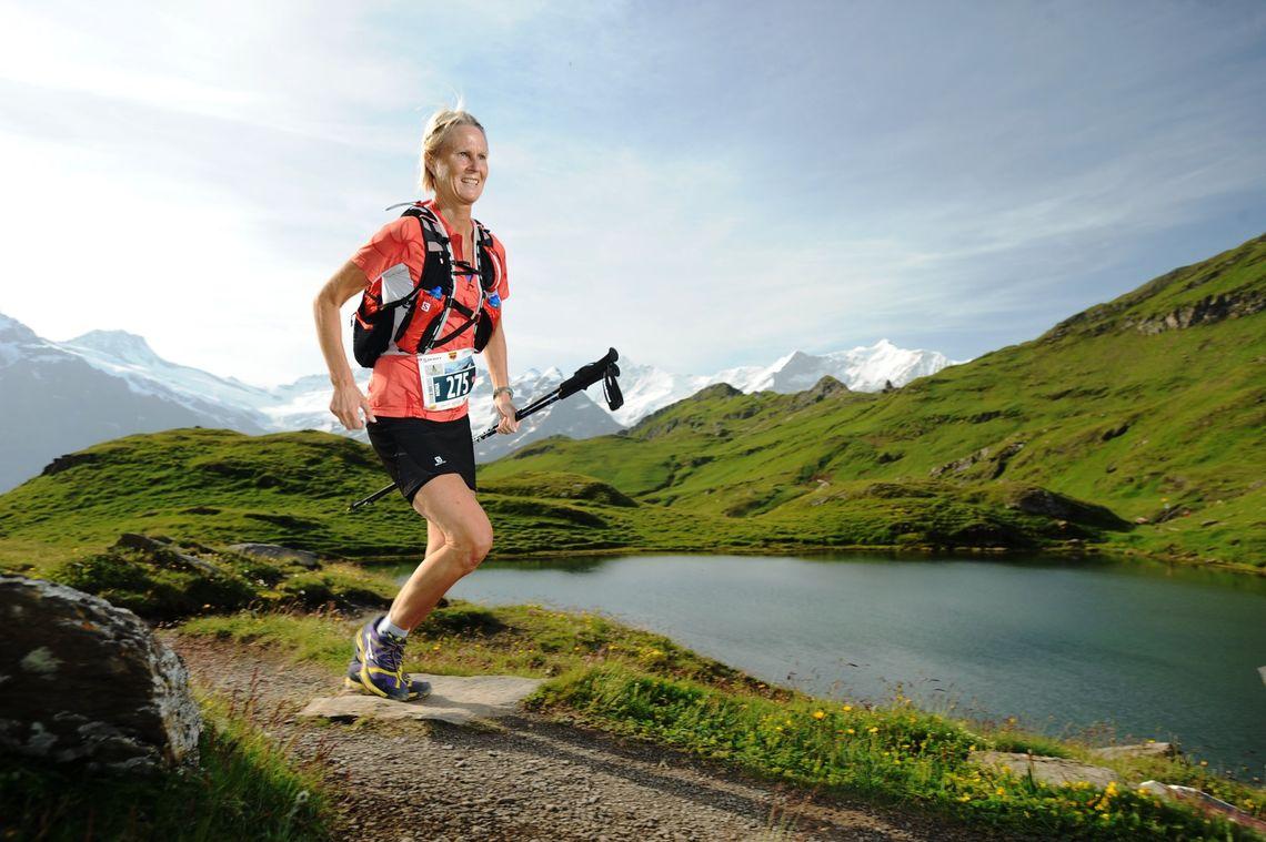 Mona Kjeldsberg i et tidligere løp. (Privat foto)