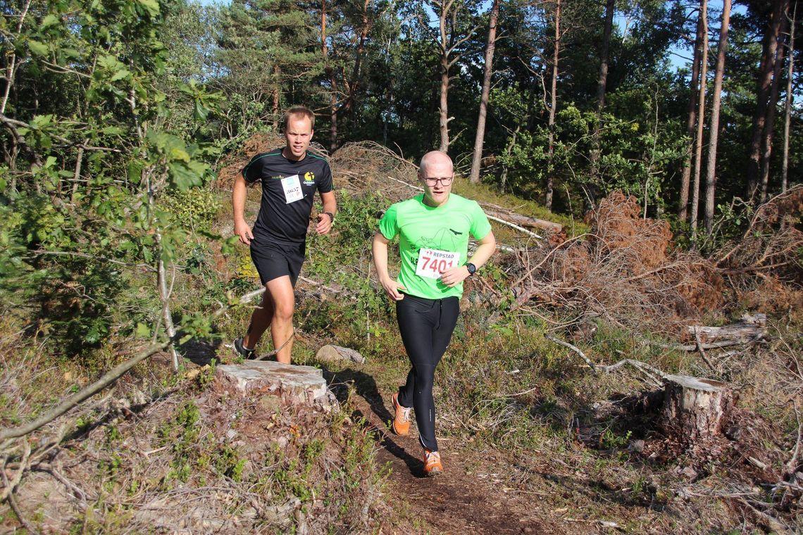To av deltagerne i det fine terrenget i Kjellandsheia i Søgne. (Foto: Guri Sæterlid)