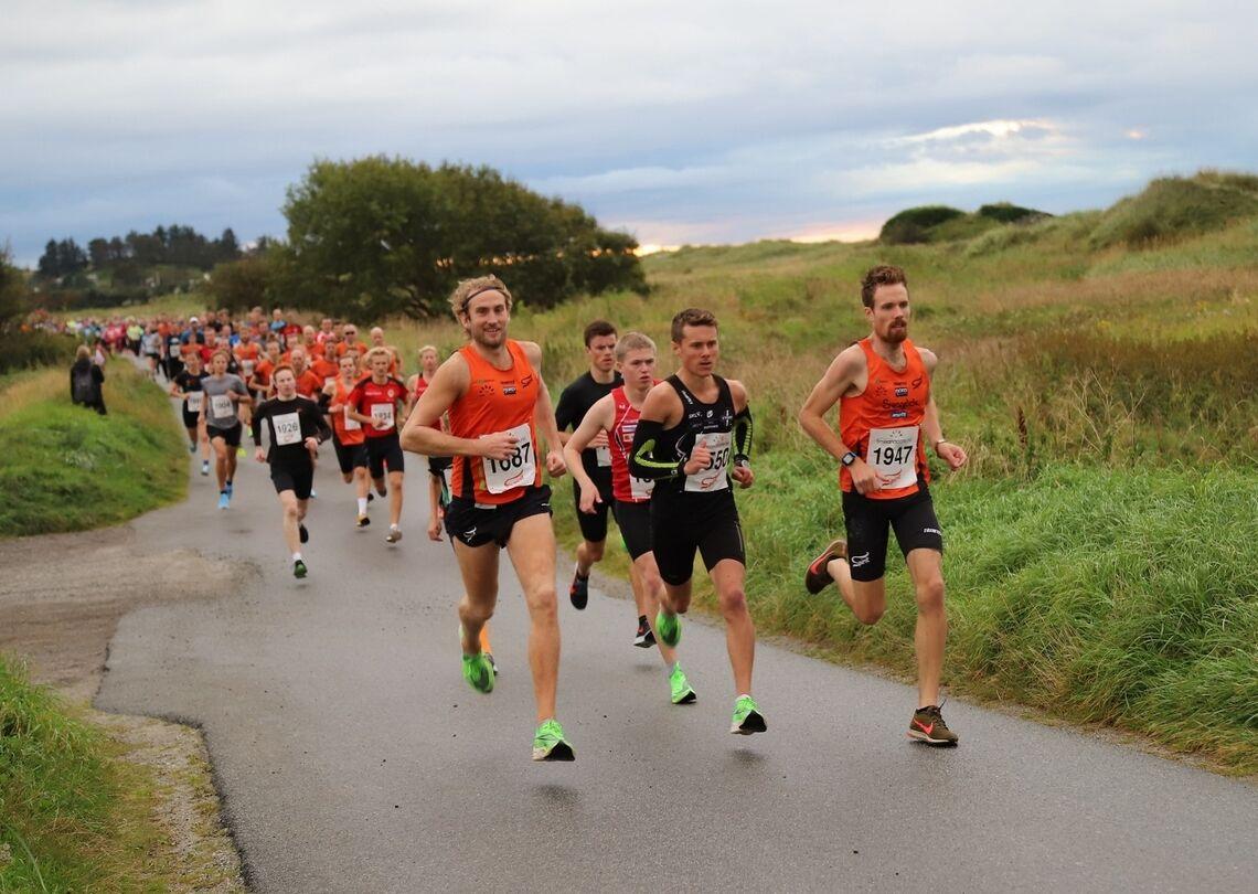 Fra fjorårets løp i Solnedgangen der det var rekordmange deltagere. ((Foto: Katrine Tonning / Spirit Stavanger FIK))