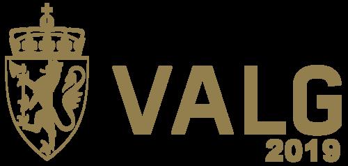Logo valget 2019 i gull