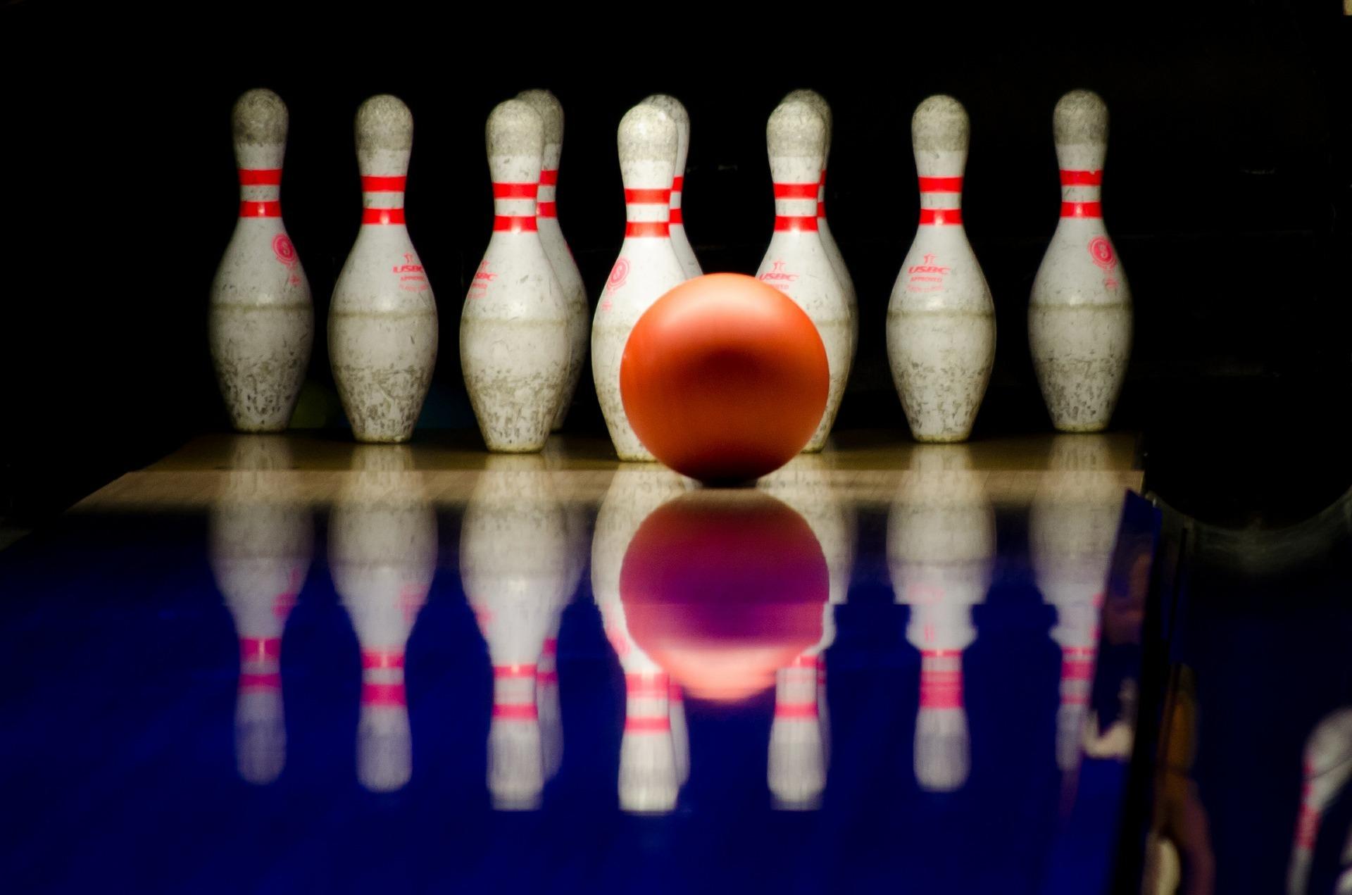 Bowling illustrasjonsfoto