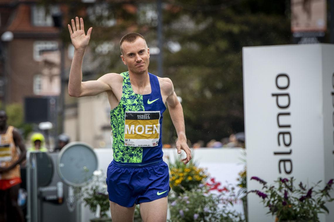 Sondre Norstad Moen var en av 798 norske løpere i årets København Halvmaraton. Han var også suverent beste ikke-afrikaner. (Foto: CPH Half)