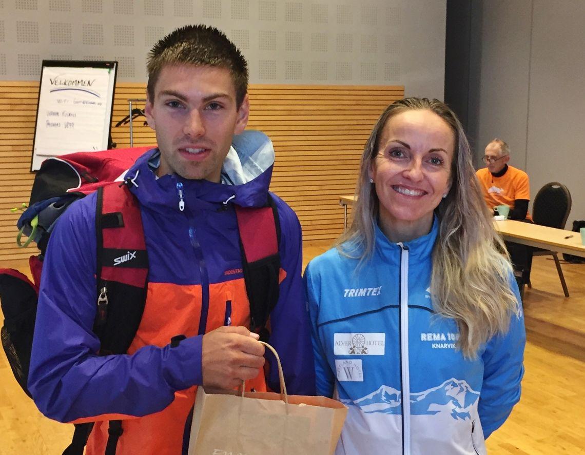 Vinnerne Anita Iversen Lilleskare og Geir Steig satte begge løyperekord i Balestrand Opp. (Arrangørfoto)