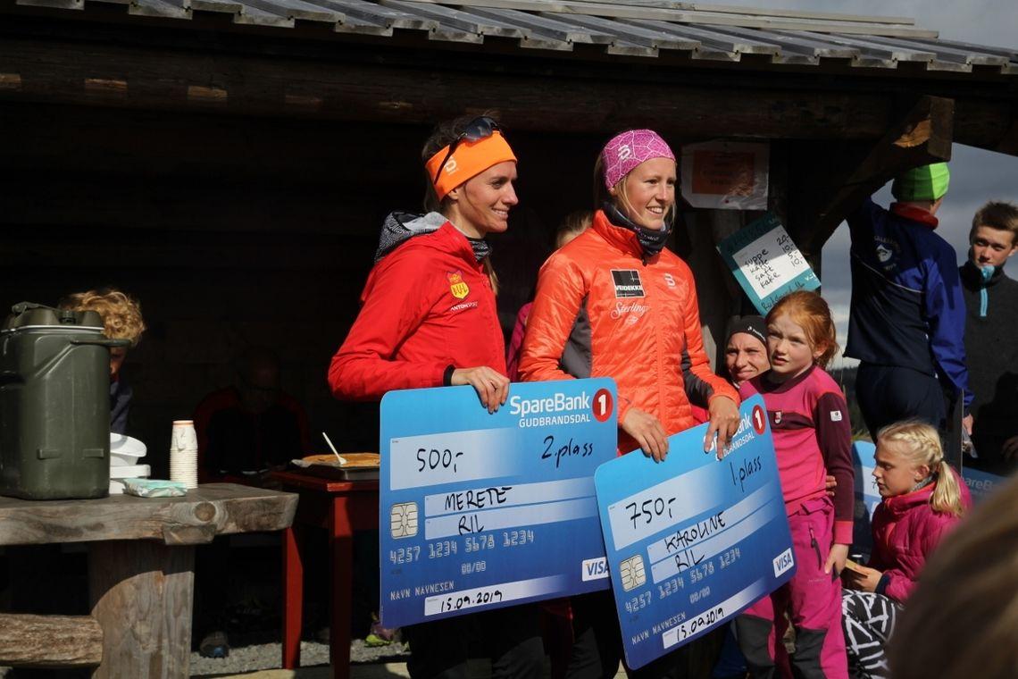Karoline Simpson-Larsen vant en klar seier foran Merete Weng i kvinneklassen i Landskampen Opp. (Foto: Stig-Are Øvreberg).
