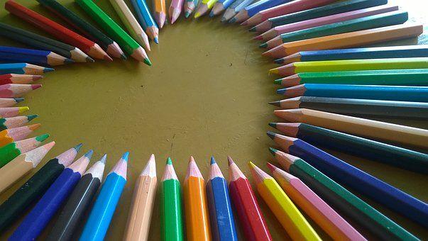 hjerte blyanter