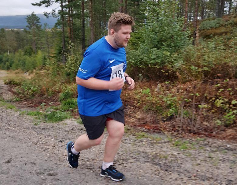 Martin Tinholt på veg mot halvmaraton i Oslo