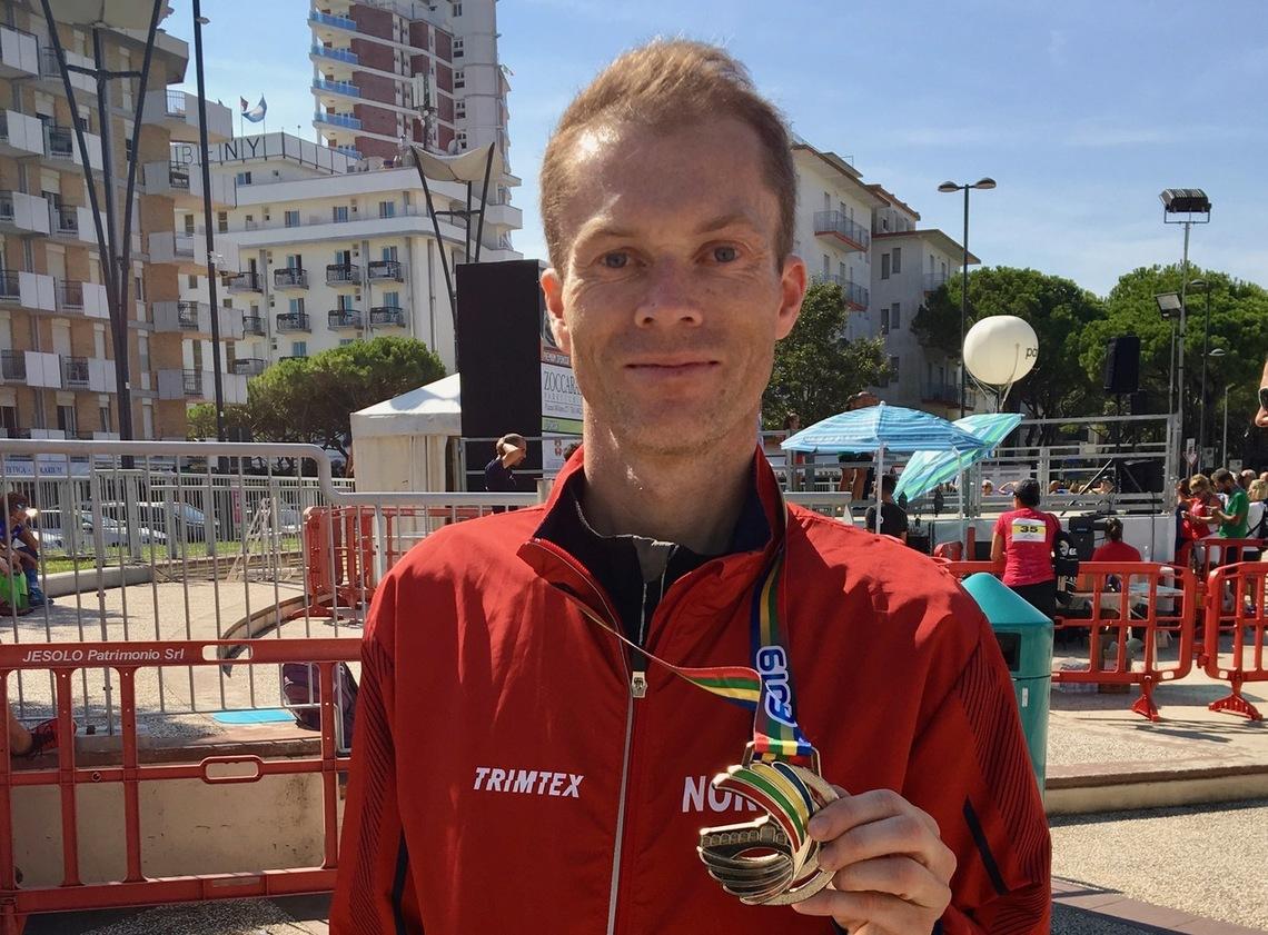 Kristian Nedregård tok både gull- og sølvmedalje i EM for veteraner. Foto: Martin Hauge-Nilsen