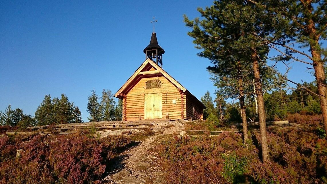 Målet ved Skåråsberget skogskapell. (Foto: Bente Myhr)