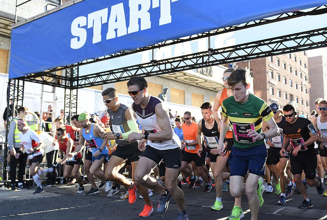 Det er to år siden sist, men på lørdag er det igjen klart til start på Oslo Maraton. Denne gangen med innlagt NM på halvmaraton. (Foto: Bjørn Johannessen)