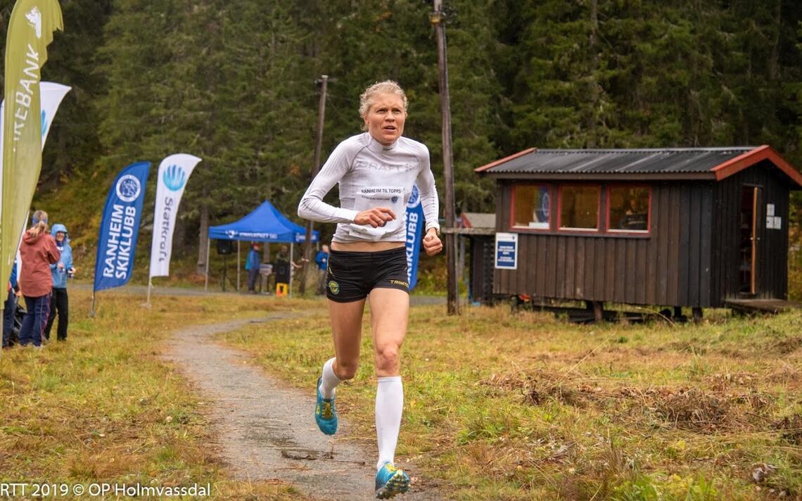 Anne Nevin var best i Birkebeinerløpet etter omregning etter veterantabellene. Bildet er fra Ranheim Opp  2019. (Foto: Ole-Petter Holmvassdal)