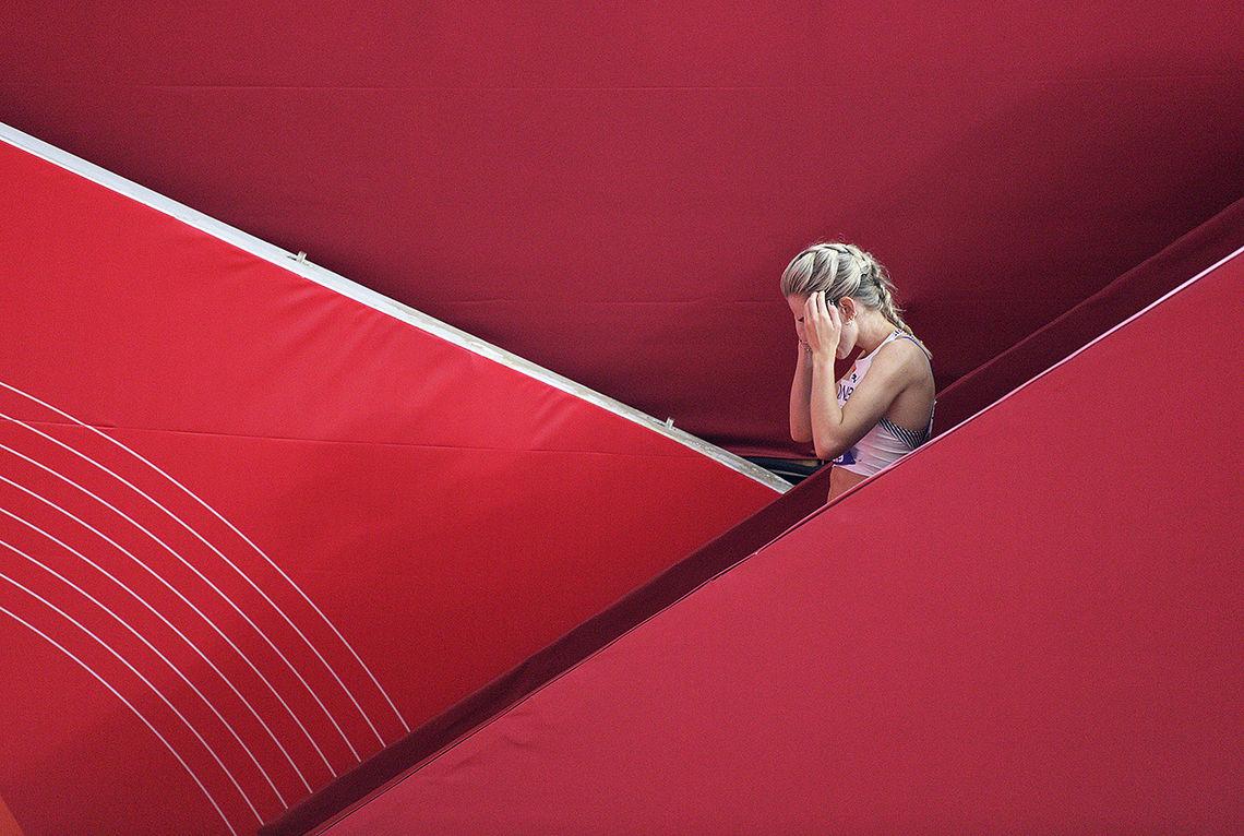 Det ble en trist exit på verdensmesterskapet for Karoline Bjerkeli Grøvdal. (Foto: Bjørn Johannessen)