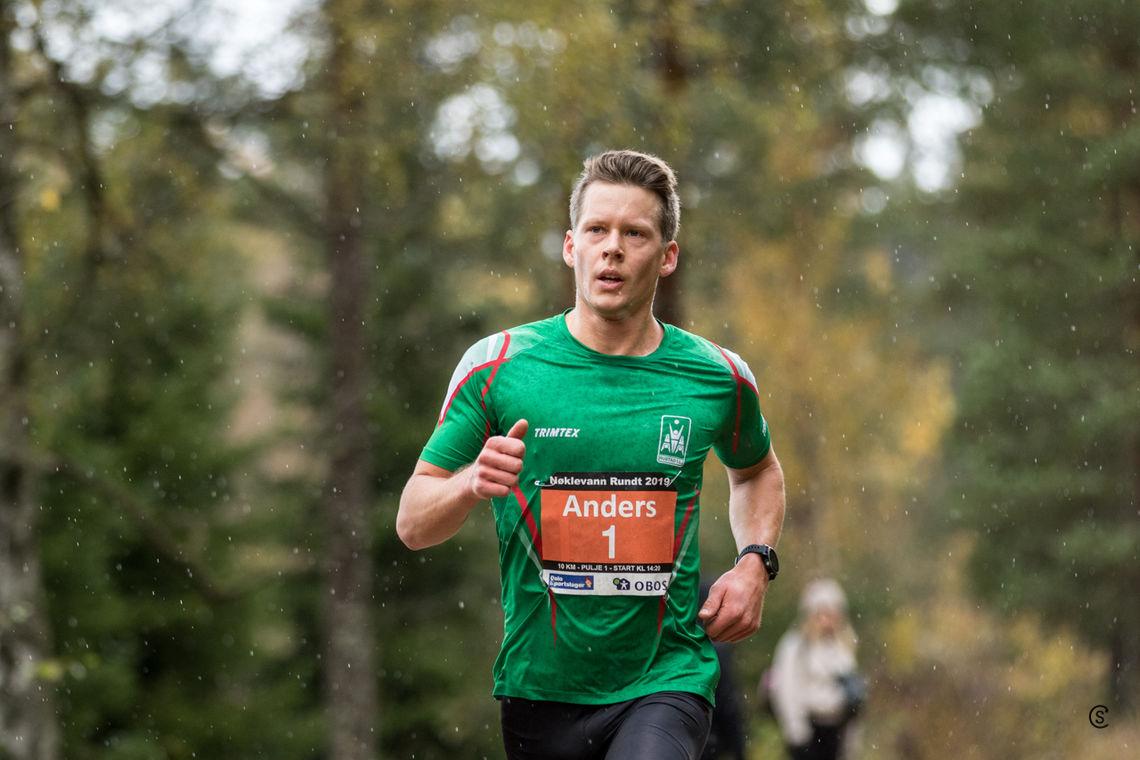 Klar seier: Anders Gløersen løp i mål 1.12 foran Iver Tildheim Andersen som kom på andreplass. Foto: Sylvain Cavatz