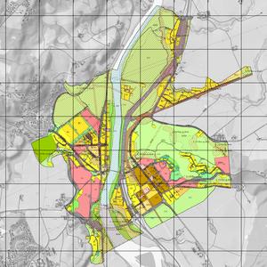 Kartutsnitt Melhus sentrum, områdeplan