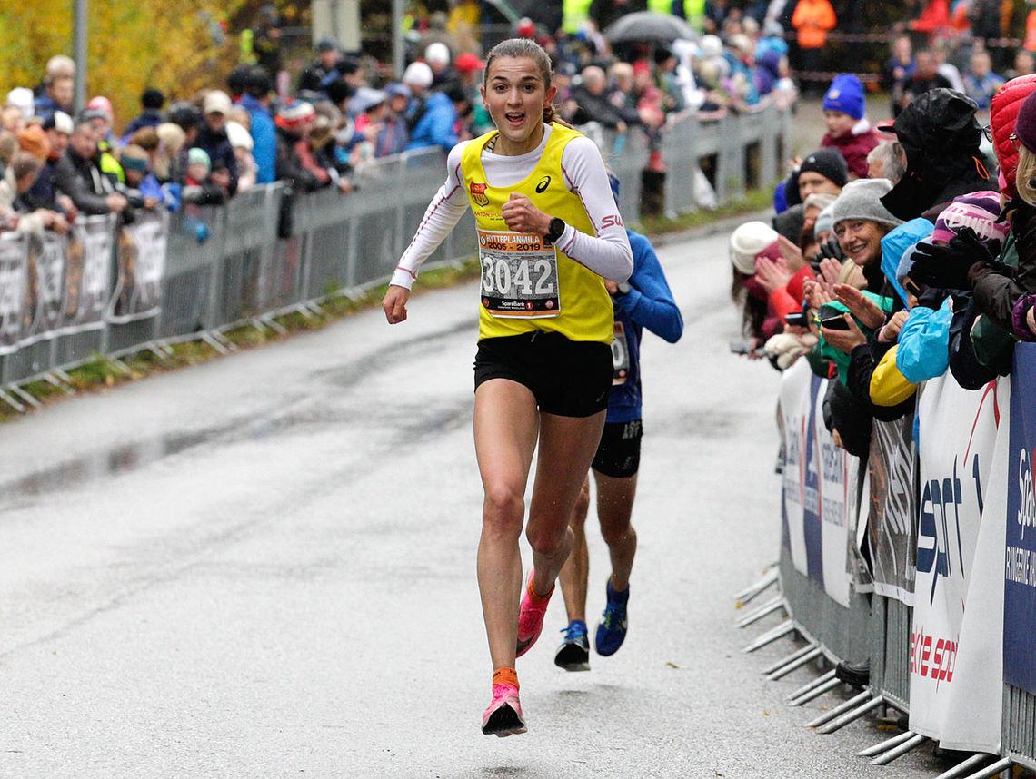 Vinner: Sigrid Jervell Våg vinner kvinneklassen på den sterke tiden 32.52, men det så vi ikke i TV-sendinga. (Foto: Per Inge Østmoen)