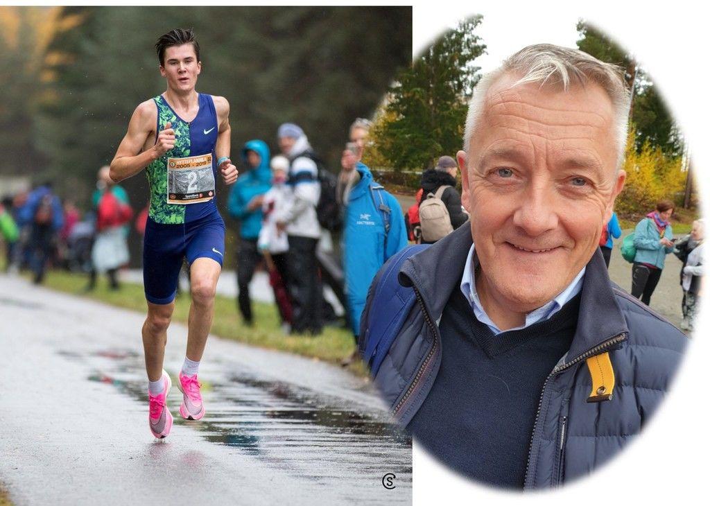 Gjert Ingebrigtsen mener Jakob kunne løpt enda raskere.(Foto: Sylvain Cavatz og Runar Gilberg)