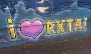 Sentrum grafitti I Love Rxtad Foto May-Lene Rødland Jenssen