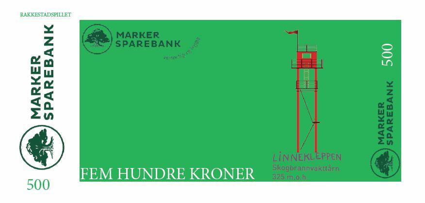 Seddel_grønn_500_Elg_med_illustrasjoner_Linnekleppen_Illustrasjon_Rakkestadhallen Drift