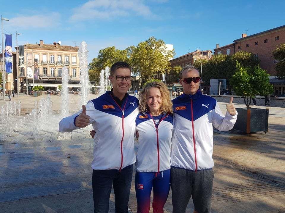 Jo Inge Norum, Therese Falk og Bjørn Tore Kronen Taranger var de norske løperne i VM 24-timers. (Foto: Thomas Johannesson)