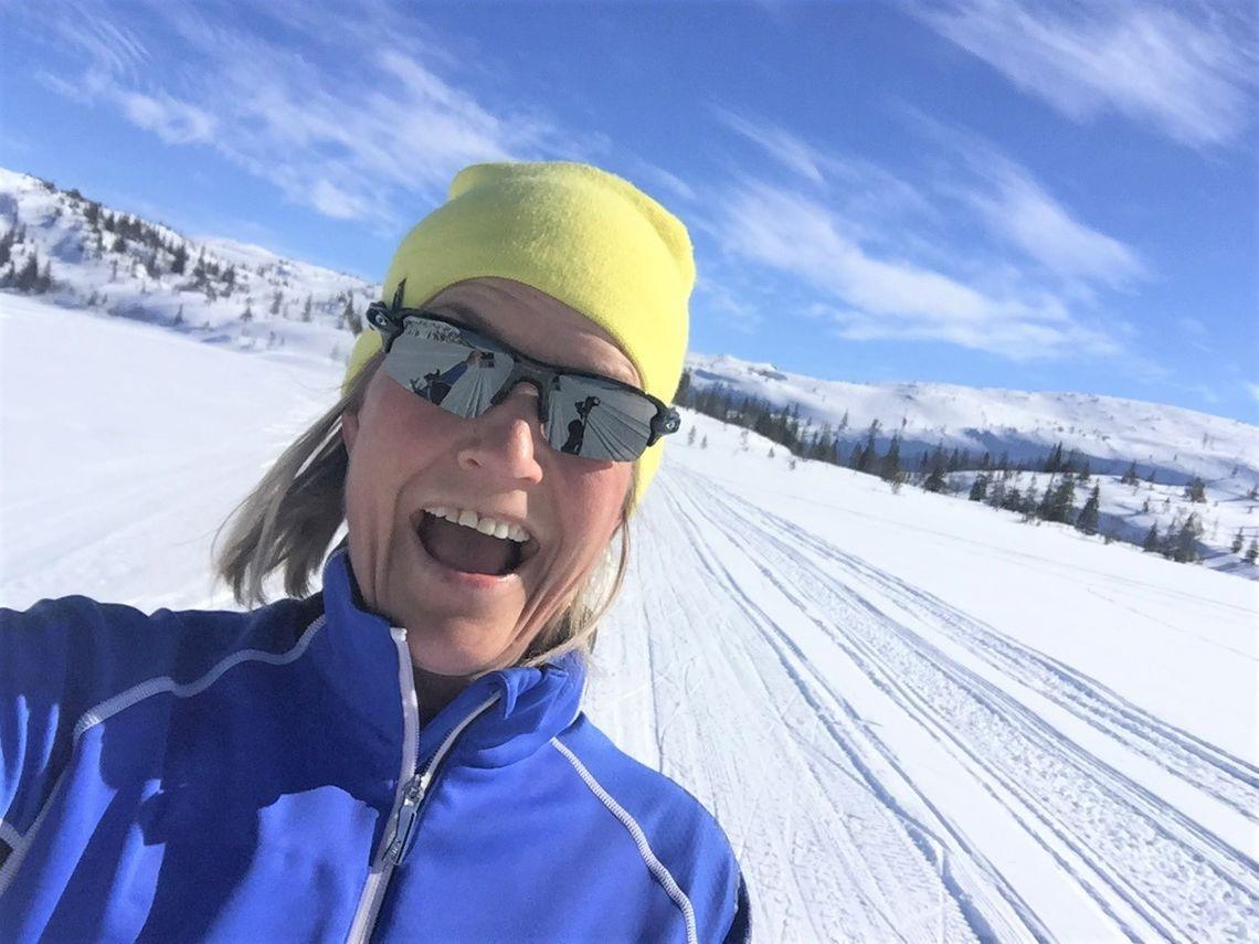 Treningsglad: Randi Mo Lilleberre elsker løping og langrenn.