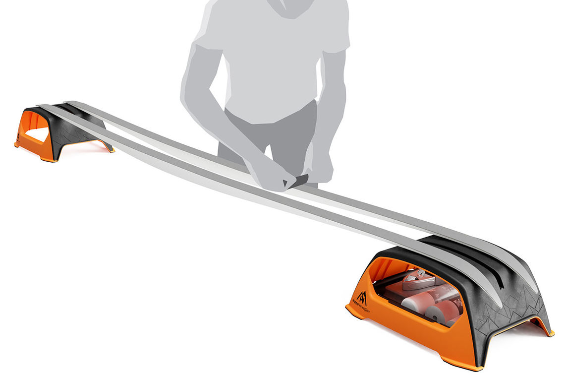 Mr. Grippy er både plassbesparende og forenkler skismøring. (Foto: produsenten)
