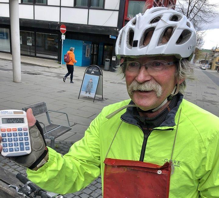 Vidar Dvergedal er hovedansvarlig for Kondis' løypemåling, og måler selv løyper over hele Østlandet. Her fra måling av Friskasmila på Gjøvik tidligere i år.