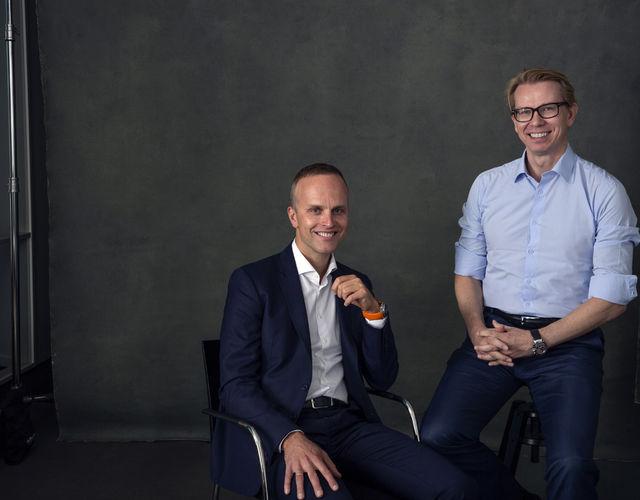 BILDETEKST: Leder av PwC Advisory og PwC Consulting i Norge Petter Vold, til venstre. Administrerende Direktør i PwC Norge, Leif Arne Jensen til høyre.