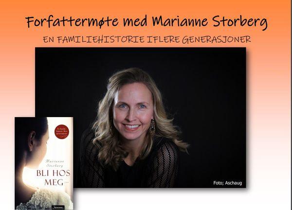 Mariann Storberg - forfattermøte på Rakkestad bibliotek 12.mars-2020 Foto:Aschoug