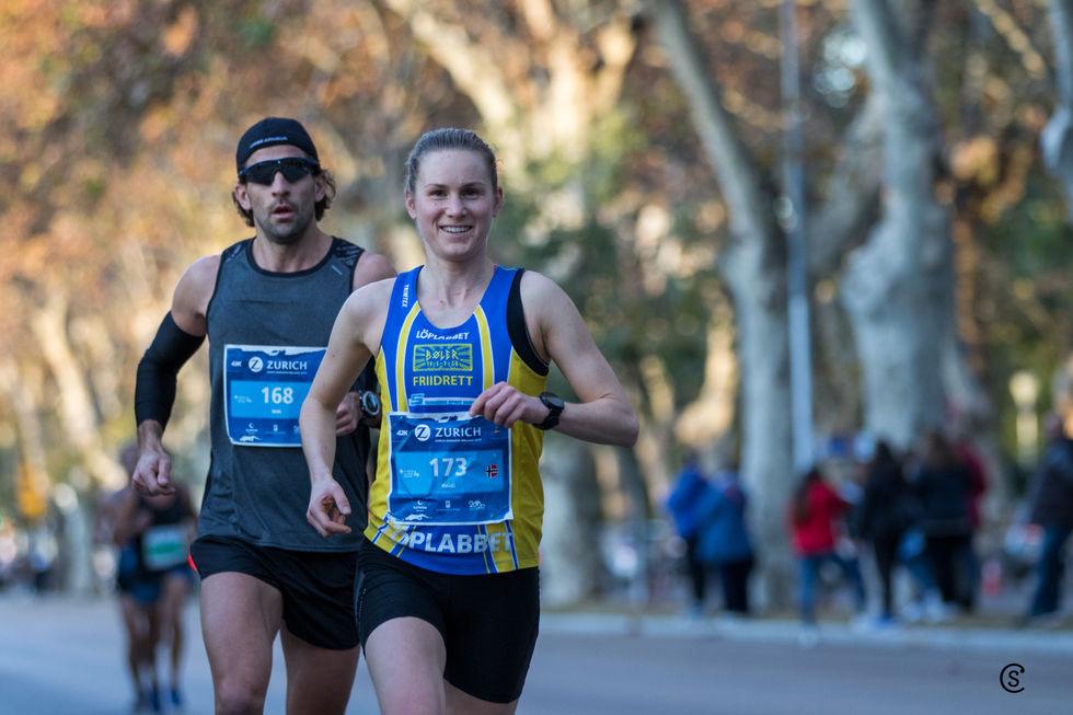 Fire norske norske kvinner løp på 2:40 tallet i Malaga