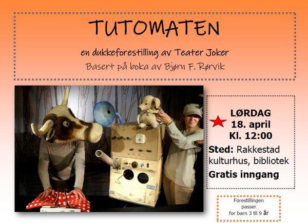 Tutomaten - dukkeforestilling med teater Joker på Rakkestad bibliotek 181419 banner