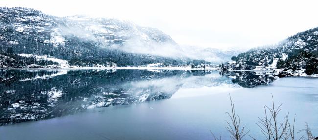 Langs Ørevatn. Foto: AKTollefsen