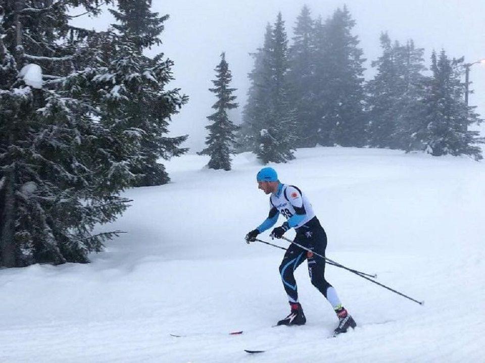 Petter Skinstad, Vind IL skøytet inn til 2. plass i menn senior i Moelvenrennet før han setter kursen til Mellom-Europa og langløp i Visma Ski Classics for Team Coop. (Foto: Team Skinstads facebookside)