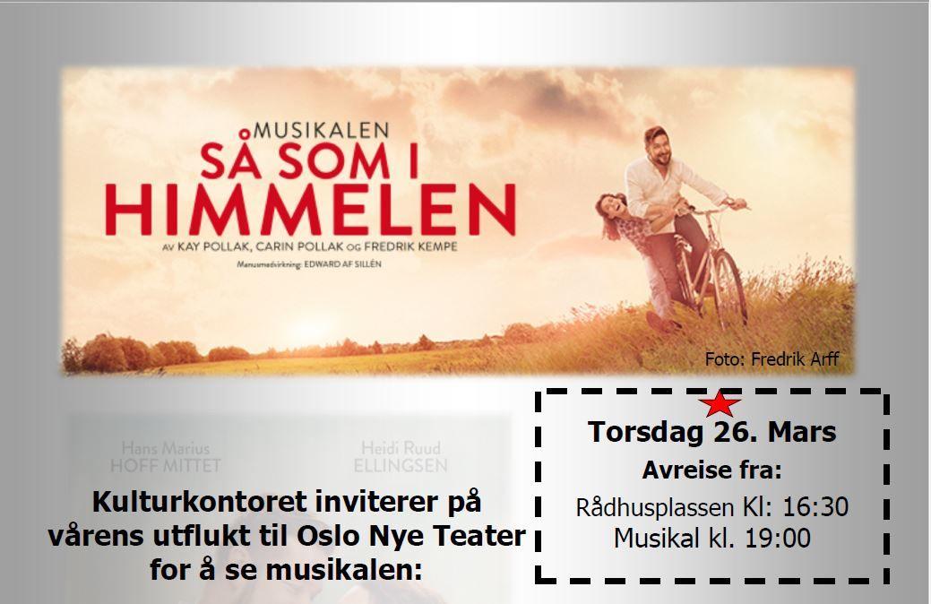 Bannner for busstur til musikalen - så som i himmelen på Oslo Nye Teater 25.mars 2020.jpg Foto Fredrik Arff
