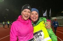 Maren Johannesen og Terese Hoff Moran får representere løpsgleden for årets første Necon Vinterkarusell.
