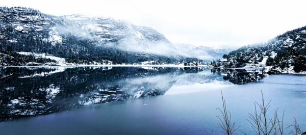 Vinter langs Ørevatn, illustrasjonsfoto