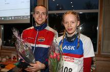 Marius Sørli og Amalie Arnesen, begge fra Ask Friidrett,  vant årets Askløp.