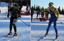 Langdistanse-vinnere i D/H21-: Evine Westli Andersen, Løten OL og Audun Heimdal, Konnerud IL.