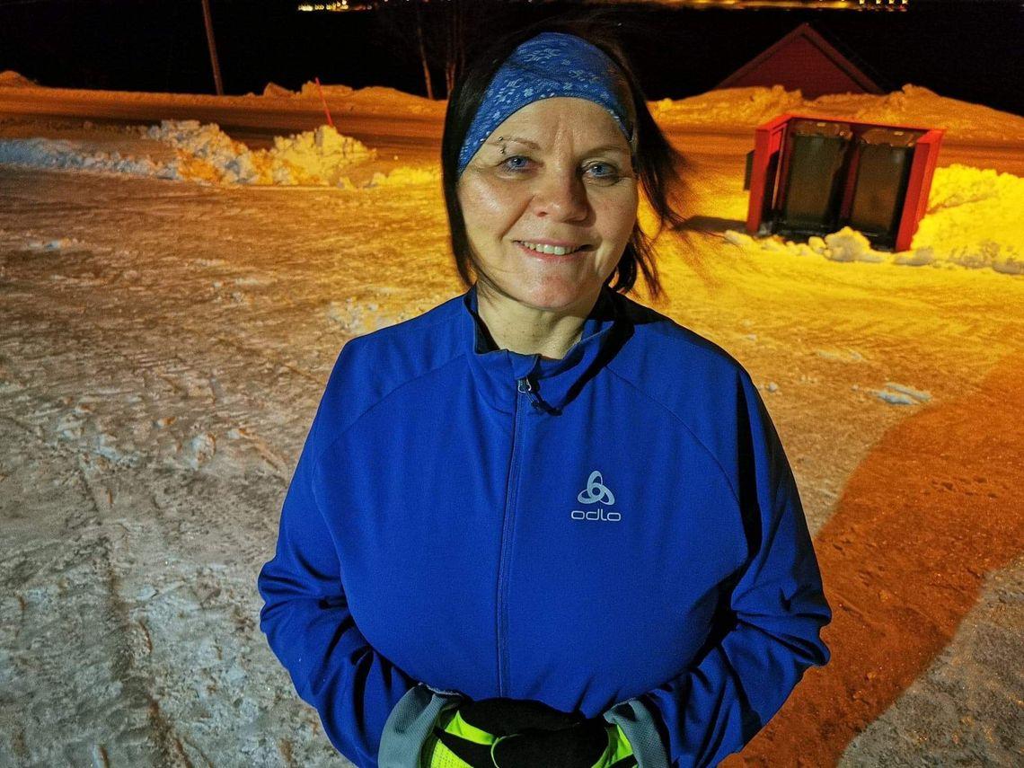 I dag spring Jorun Dorthea fire gong i veka, og kiloane peker heile tida nedover. (Foto: Hilde Gamst Olsen)