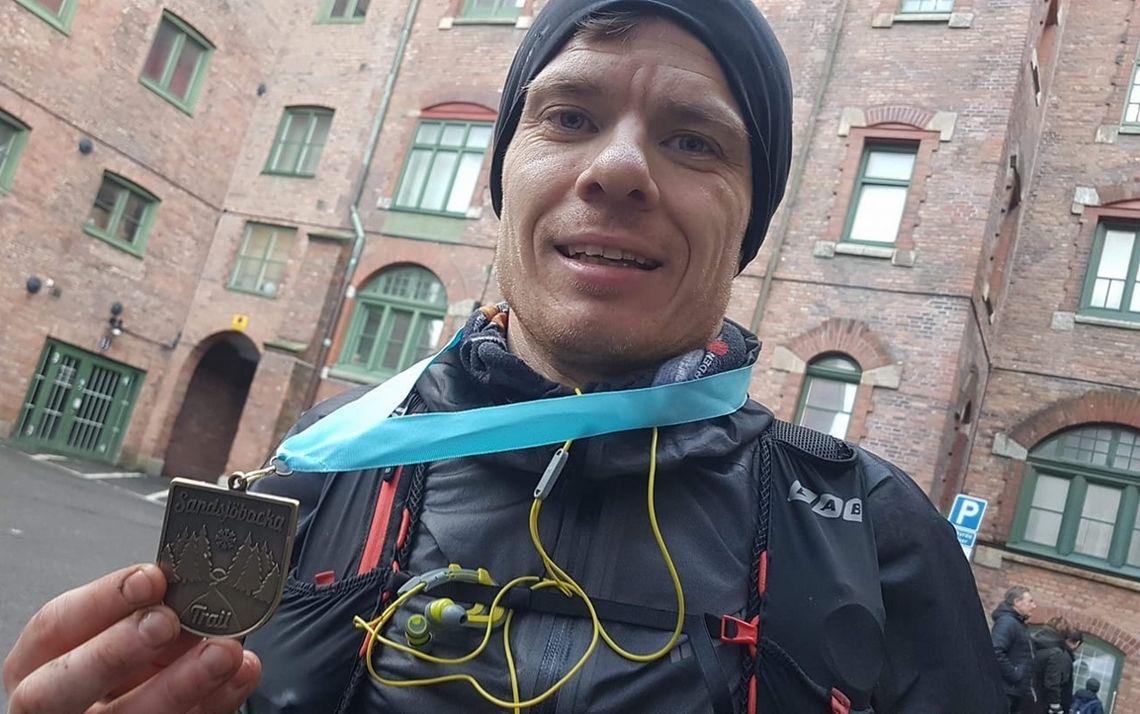 Stig Helge Westerheim vant Sandsjöbacka Trail 100 miles - 161 km - med klar margin. (Arrangørfoto)