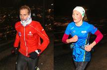 Thorbjørn Ludvigsen og Thea Knutsen var de som løp aller raskest fra Fjellveien til Fløyen