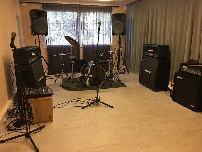 Øvingslokalet i musikkbingen