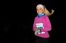 Amalie Joensen var den raskeste kvinne i 5-km-løypen.