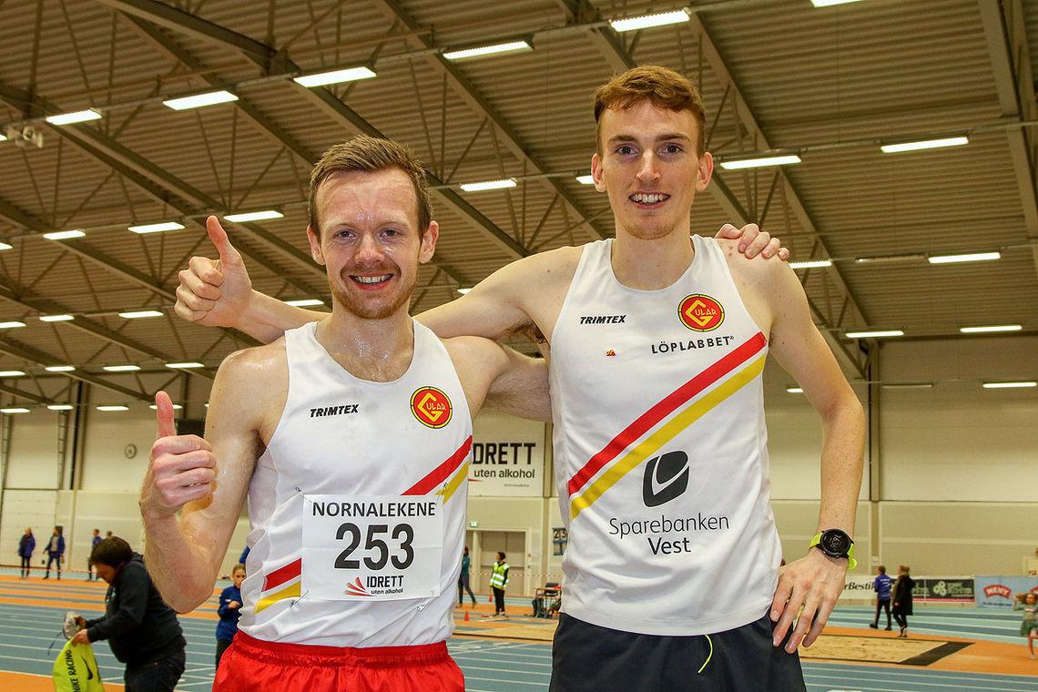 Løpet til Bjørnar Sandnes Lillefosse var resultat av et godt samarbeid med Marius Vedvik som var hare.
