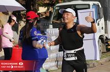 Andy Thiem i reisens andre maratonløp, Ho Chi Minh maraton. (Privat foto)