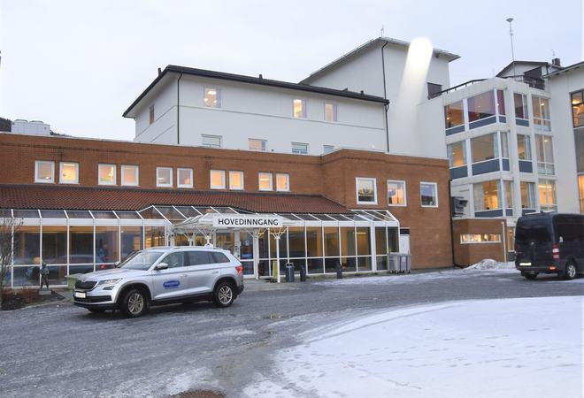 Inngangspartiet ved Orkdal sjukehus