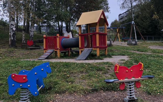 Elgen barnehage uteområdet