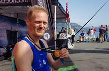 Simen Holvik hadde veldig stor framgang i 2019-sesongen, men har betydelig tøffere målsetting for de neste årene. Bilder er tatt etter målgang på Lysefjorden Rundt. (Foto: Lysefjord Running)