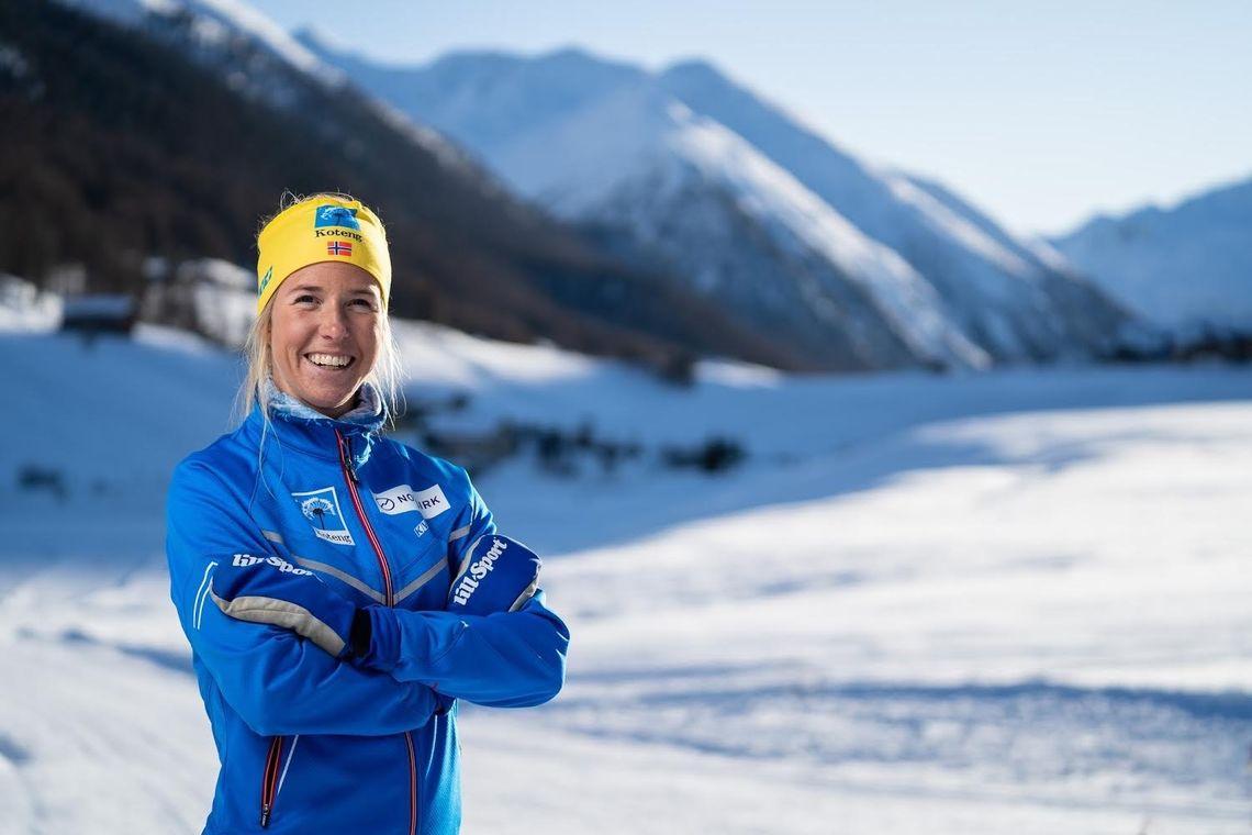 Bilde av Astrid Øyre Slind som går langløp for Team Koteng. Astrid leder for tida Ski Classic.