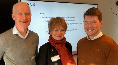 Kommunedirektør Eivind Glemmestad, ordfører Ragnhild Bergheim i Lørenskog kommune, ordfører Ståle Grøtte