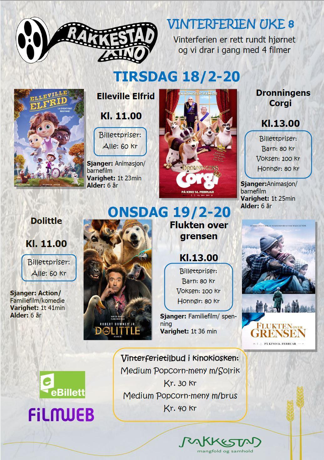 Vinterferiekino Rakkestad kino