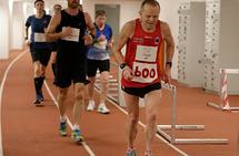 Inge Asbjørn Haugen jubilerte på Bislett 50 KM der den offisielle maratonpasseringen markerte hans maraton nummer 600. (Foto: Per Inge Østmoen)